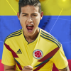 James Rodriguez Colombia mobile wallpaper Russia world cup 2018