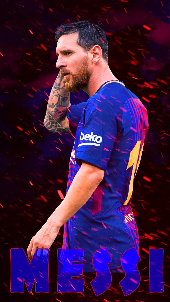messi barcelona 2018 mobile wallpaper