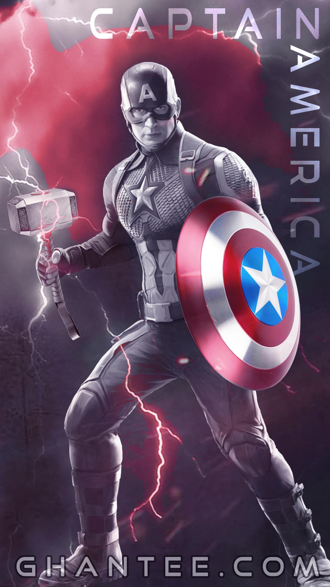 captain america endgame wallpaper (mobile)
