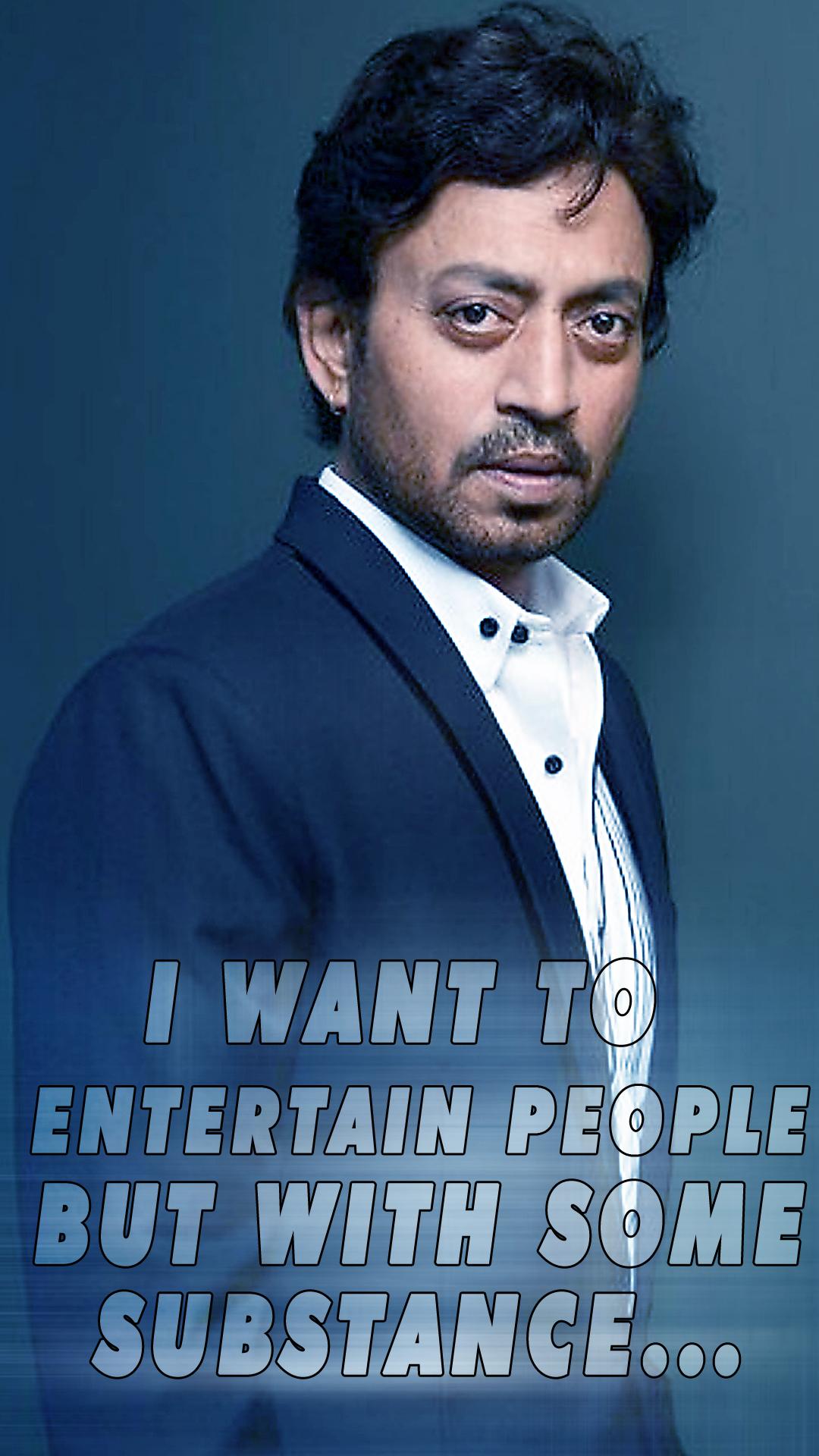 irrfan khan quotes mobile wallpaper full HD | Ghantee