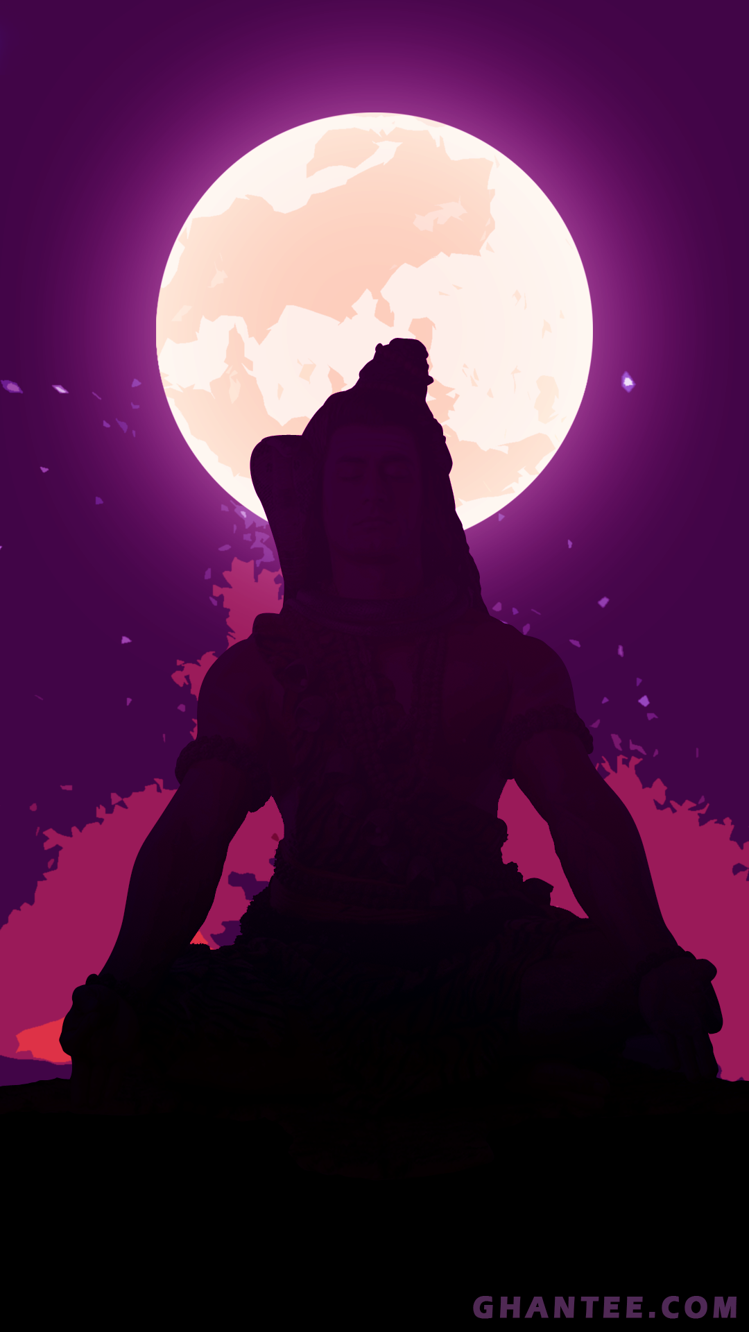 lord Shiva meditating phone wallpaper