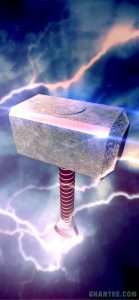 3d iphone background thor hammer HD