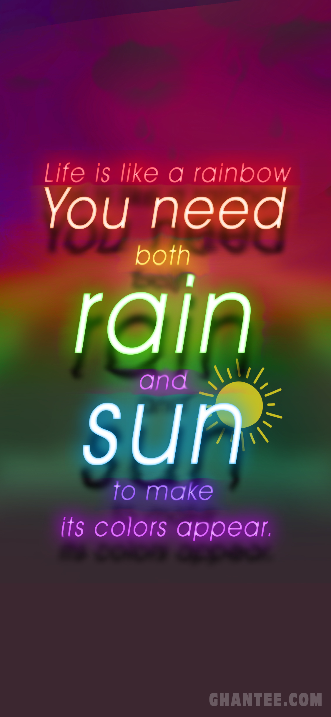 colorful quotes HD wallpaper for iphone x-xs