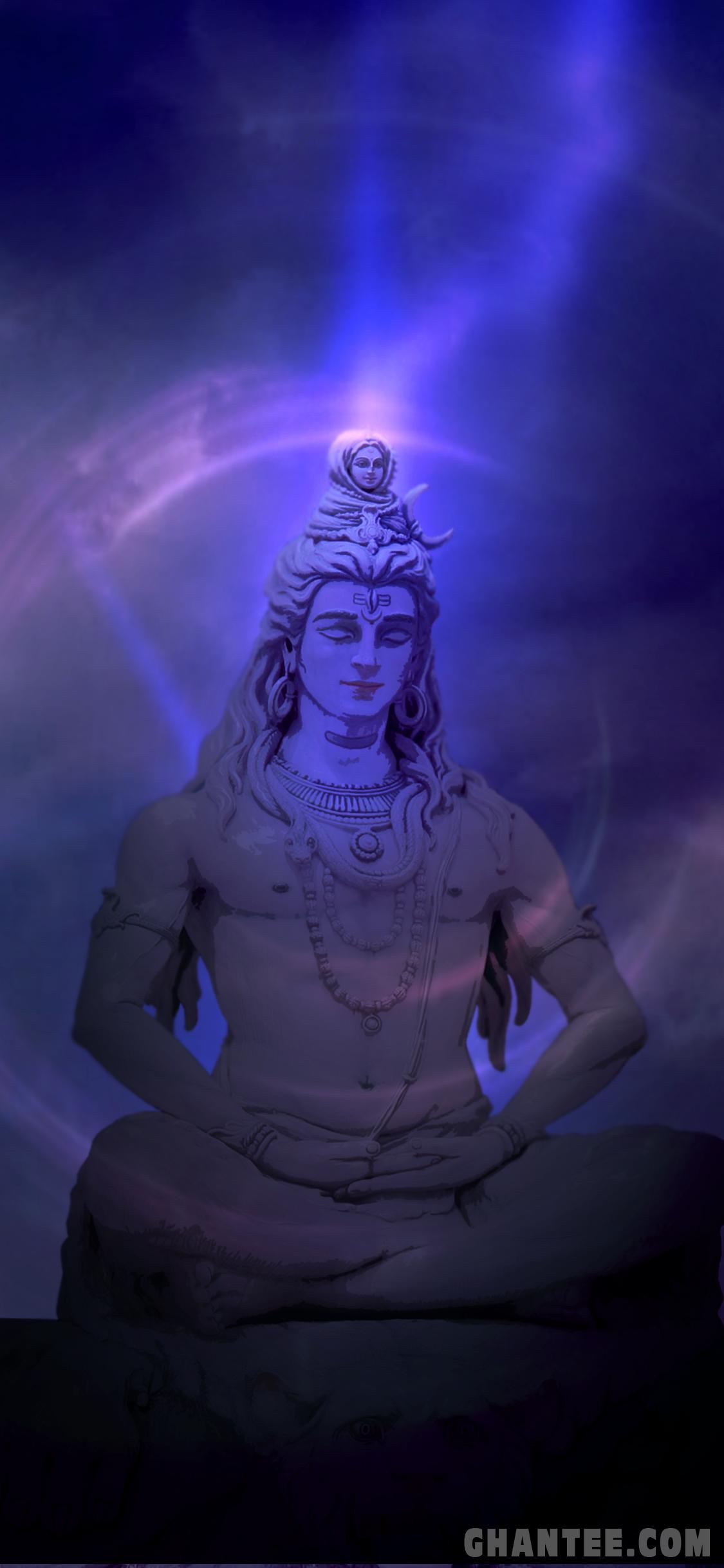 Meditating Shiv Bhagwan Wallpaper For Iphone X Ghantee