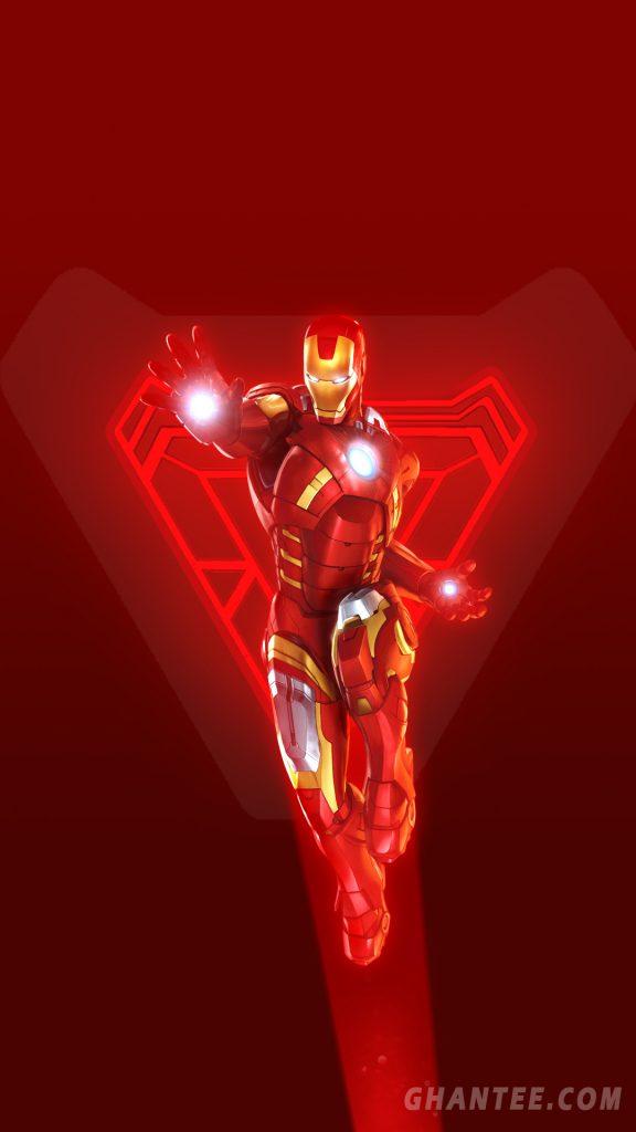 iron man hd phone wallpaper red