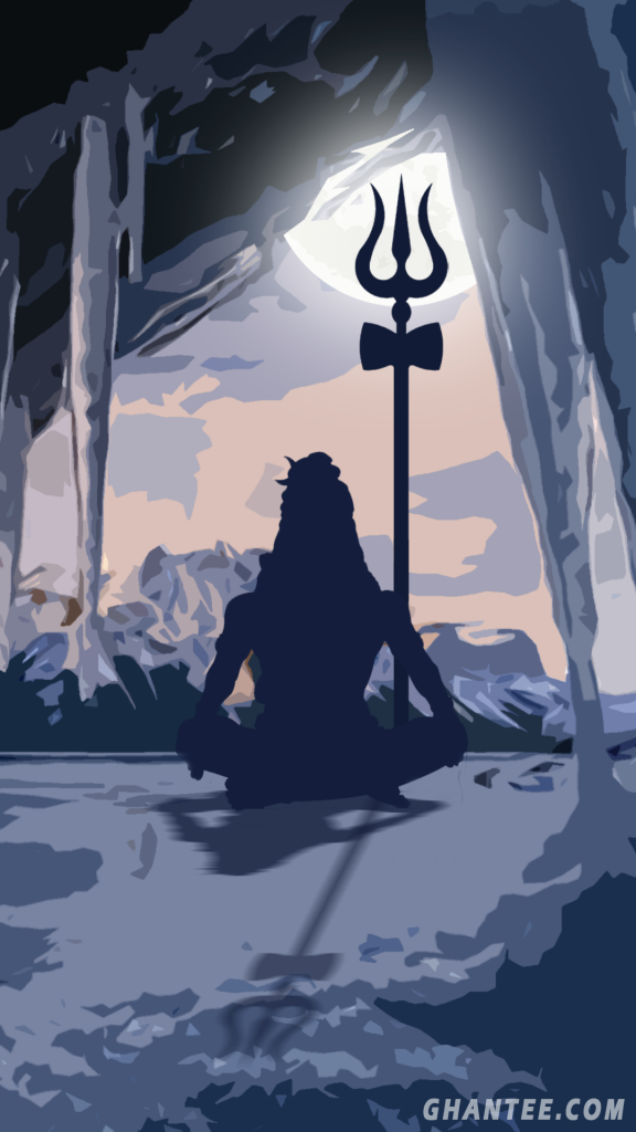 lord shiv meditating phone wallpaper hd