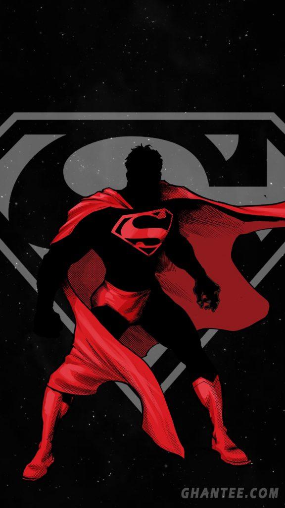 superman iphone wallpaper minimal red