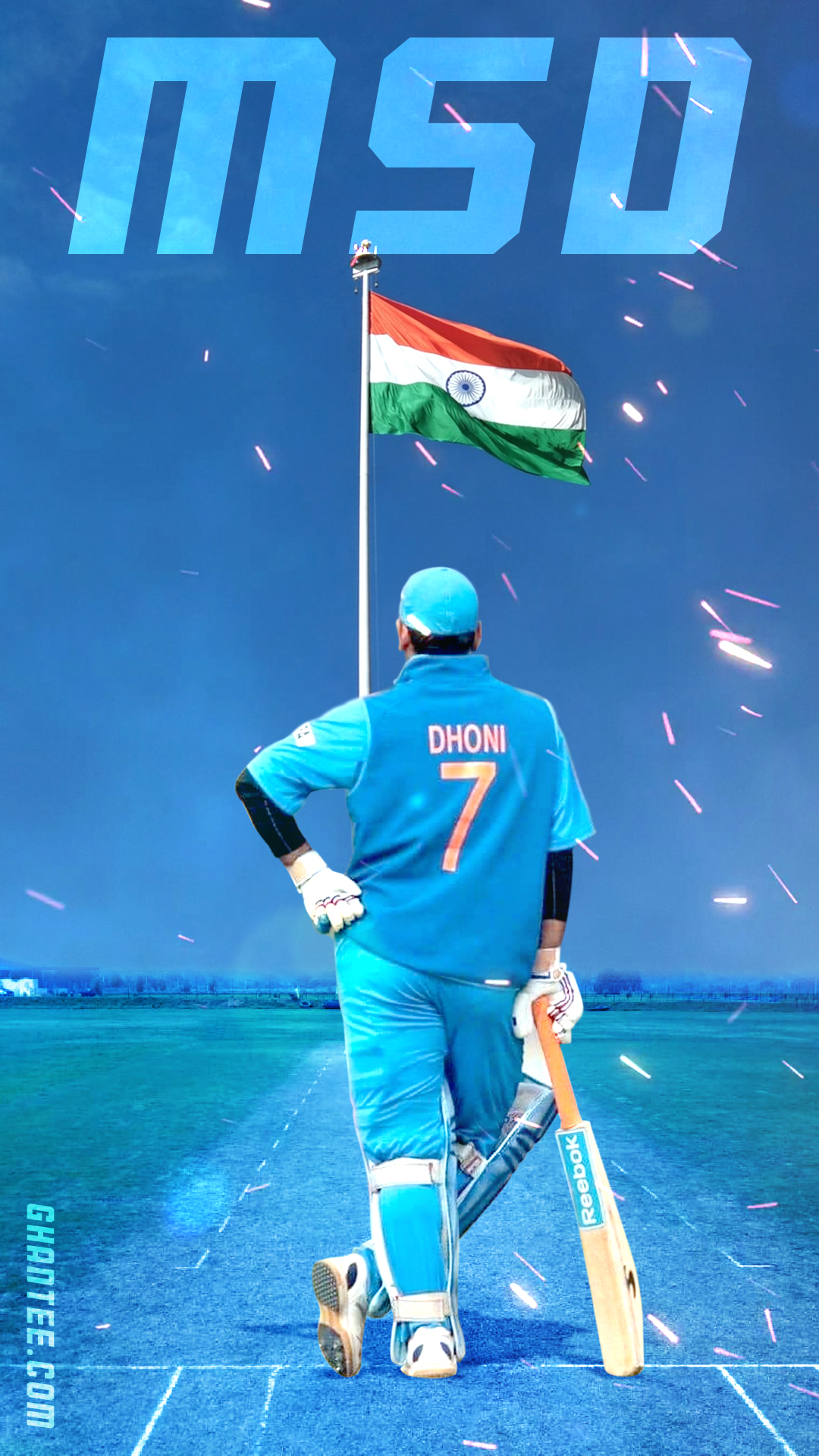 Dhoni number 7 wallpaper for mobile devices