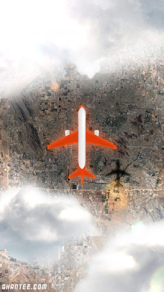 aeroplane from top hd phone wallpaper