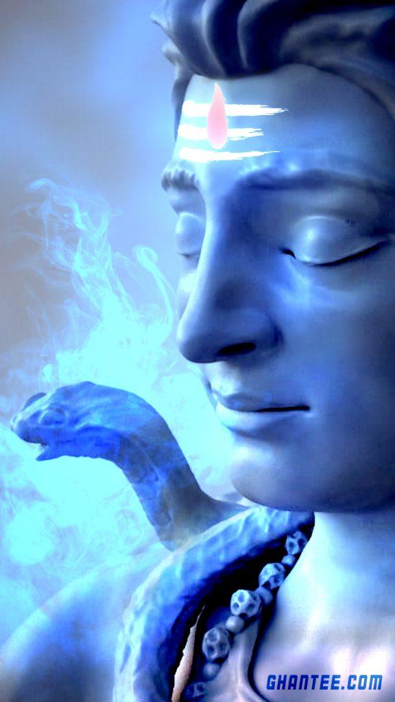 bholenath face hd phone wallpaper blue