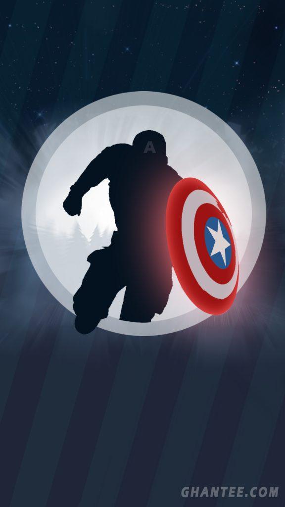 captain america minimal phone wallpaper