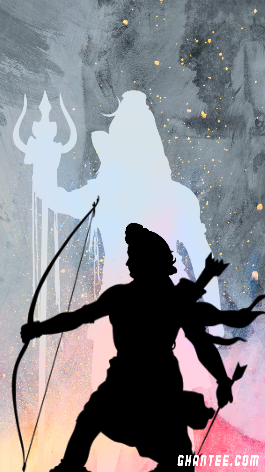 lord shiva and shri ram hd phone wallpaper | 1080 x 1920