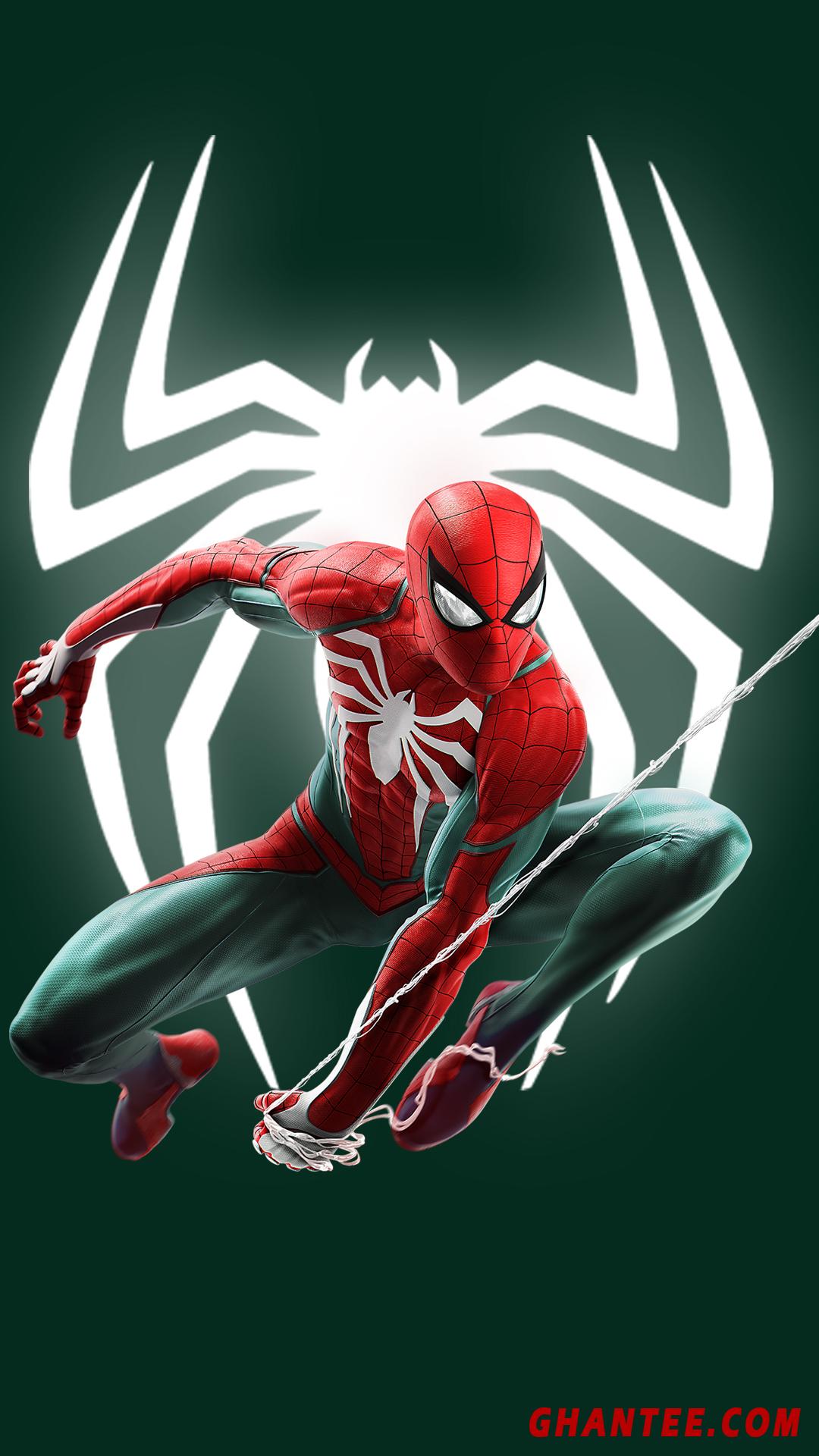 spider man wallpaper hd for phone | green bg | full HD