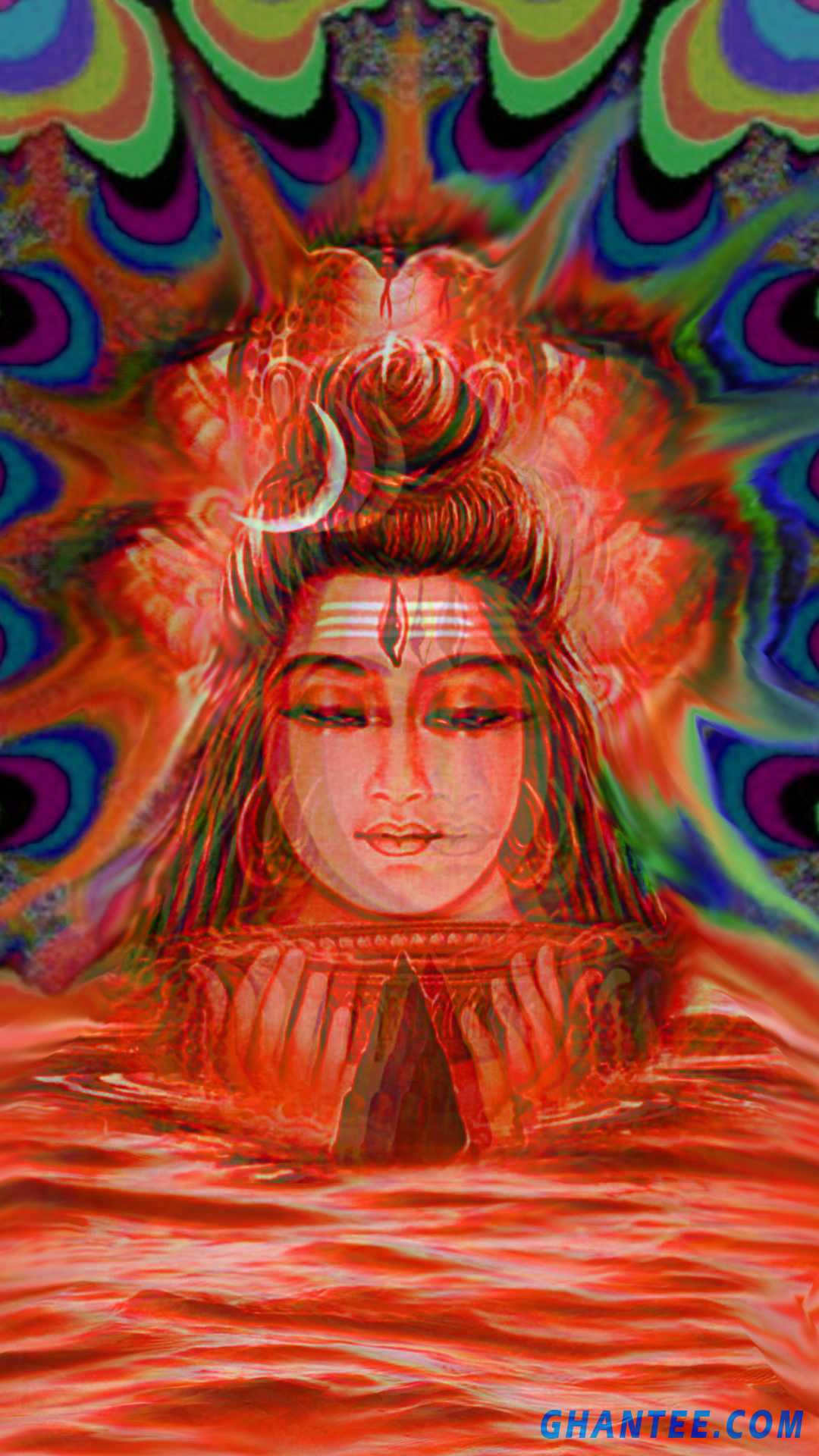 trippy iphone wallpaper – shiva | 1080×1920