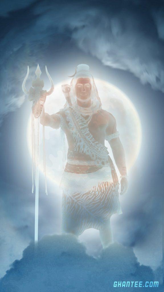 lord shiva glowing hd phone wallpaper