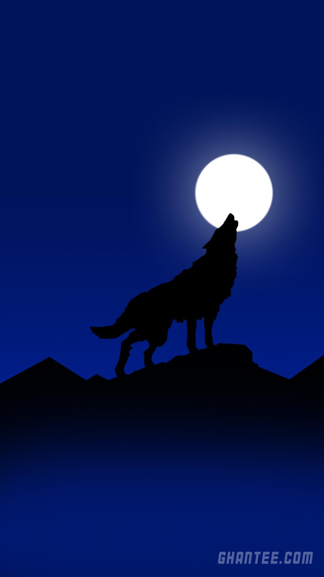 howling wolf hd phone wallpaper | 1080×1920