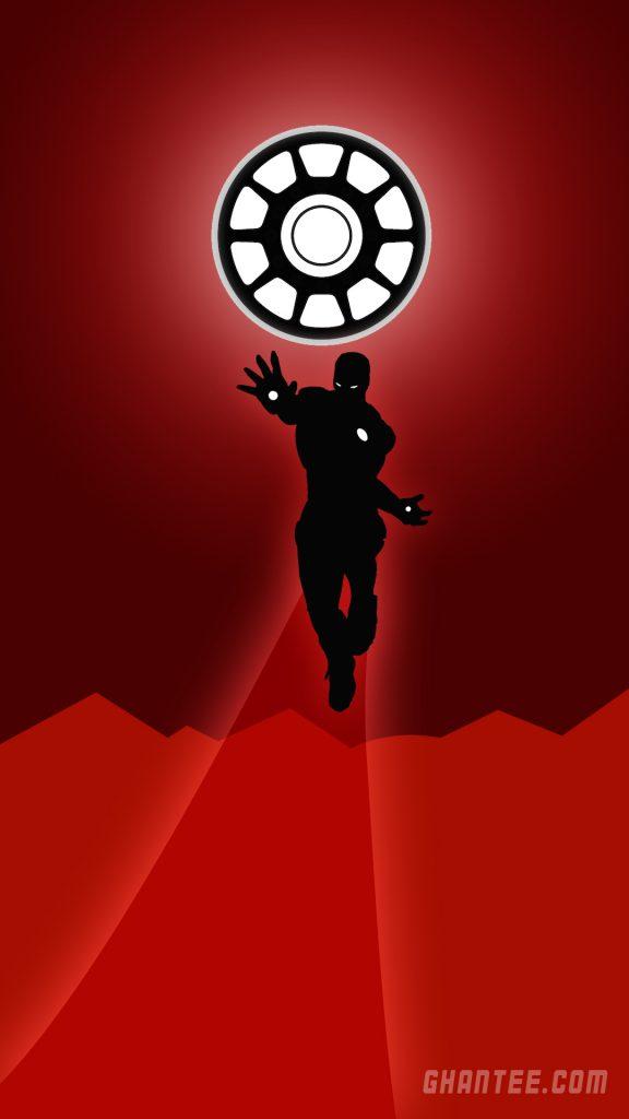 iron man minimalist black and red phone wallpaper