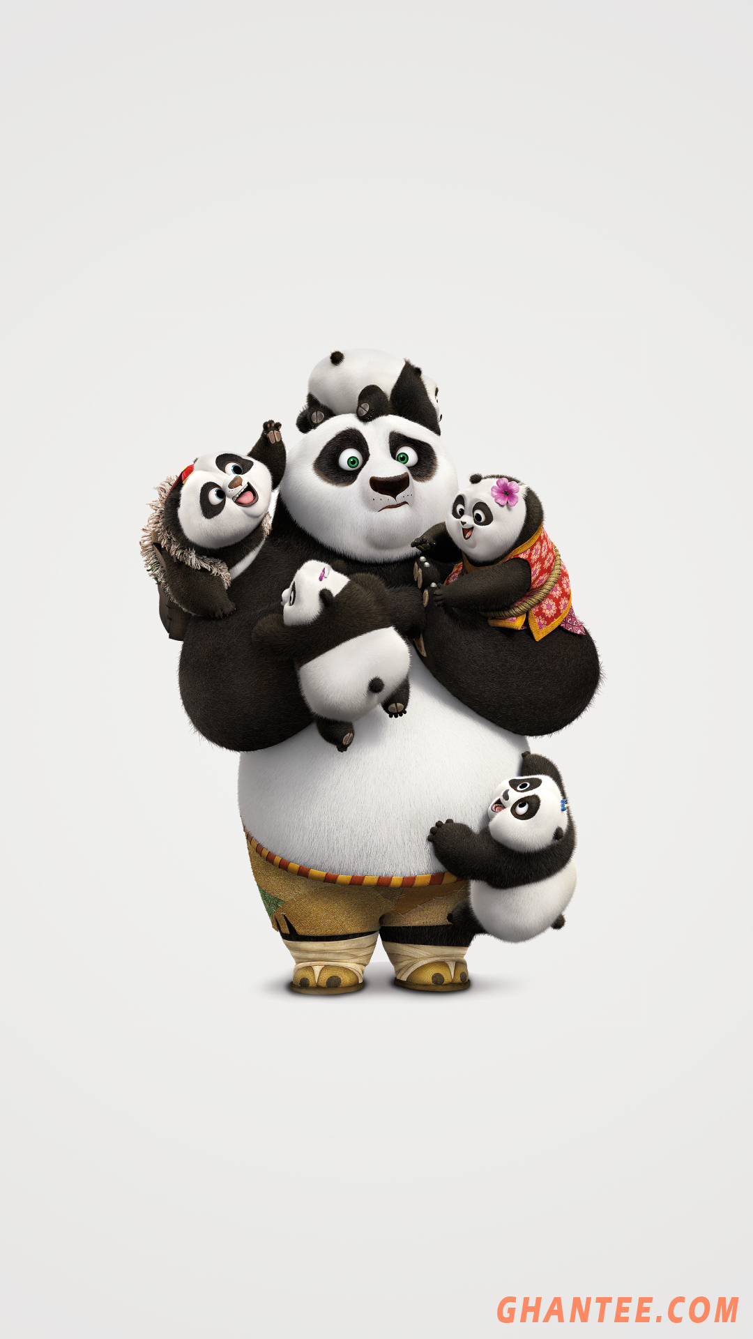 kung fu panda off white phone wallpaper HD