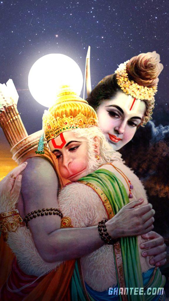lord ram and hanuman hd phone wallpaper