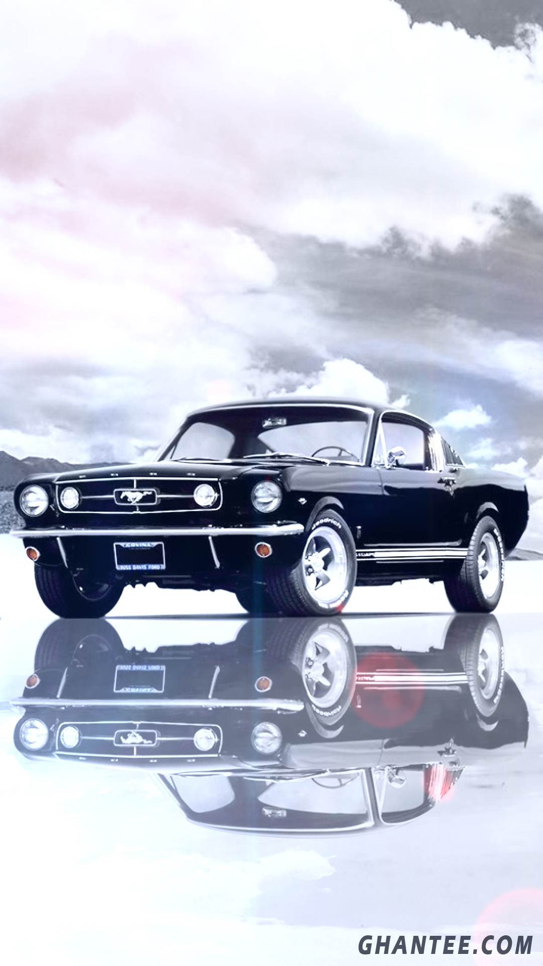 mustang wallpaper for iphone | black and white