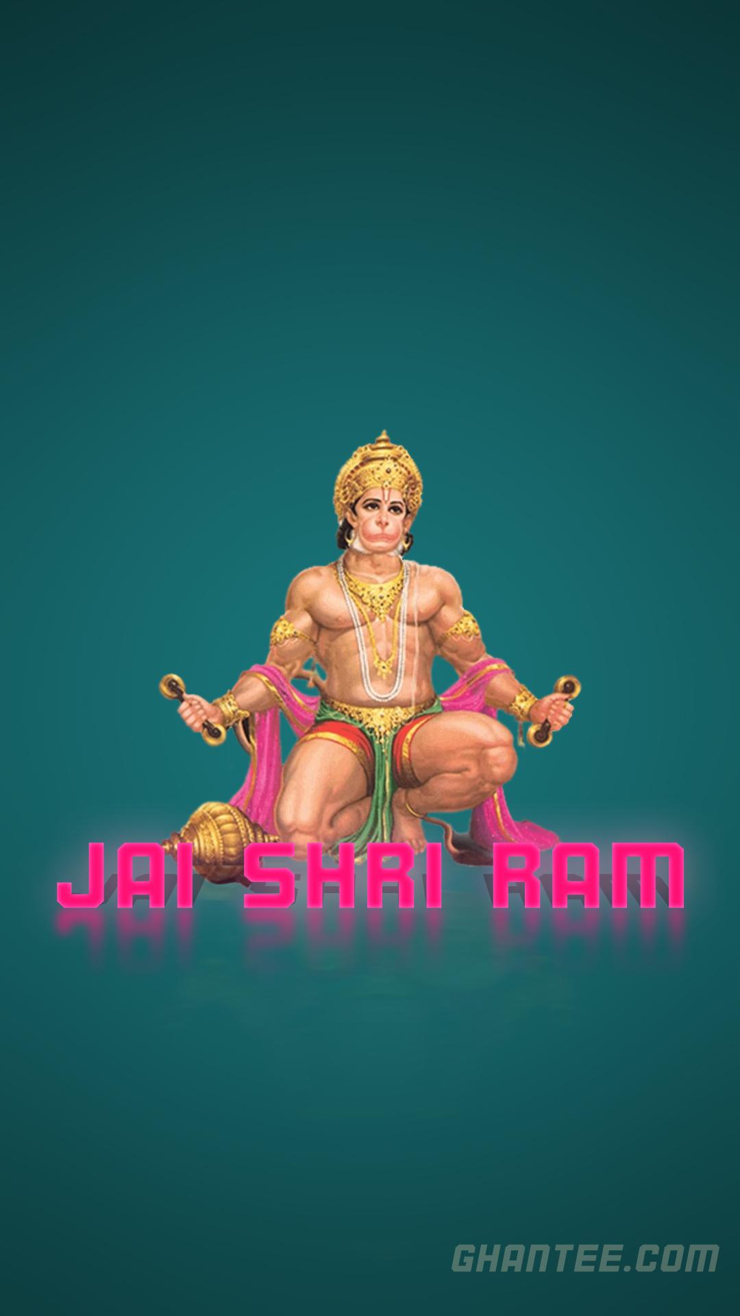 veer Hanuman plain phone wallpaper | full HD