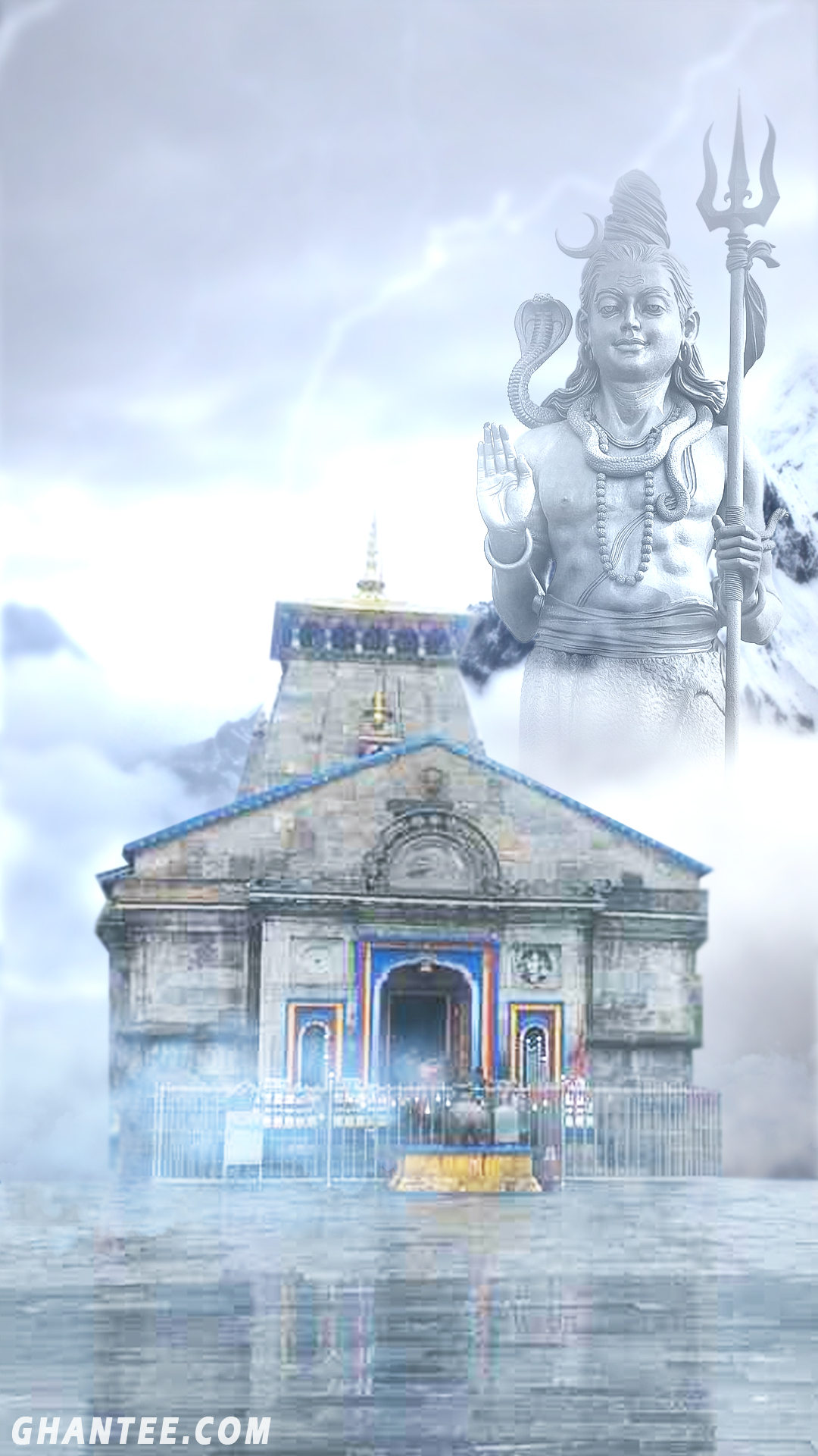 kedarnath temple wallpaper for iphone | full HD