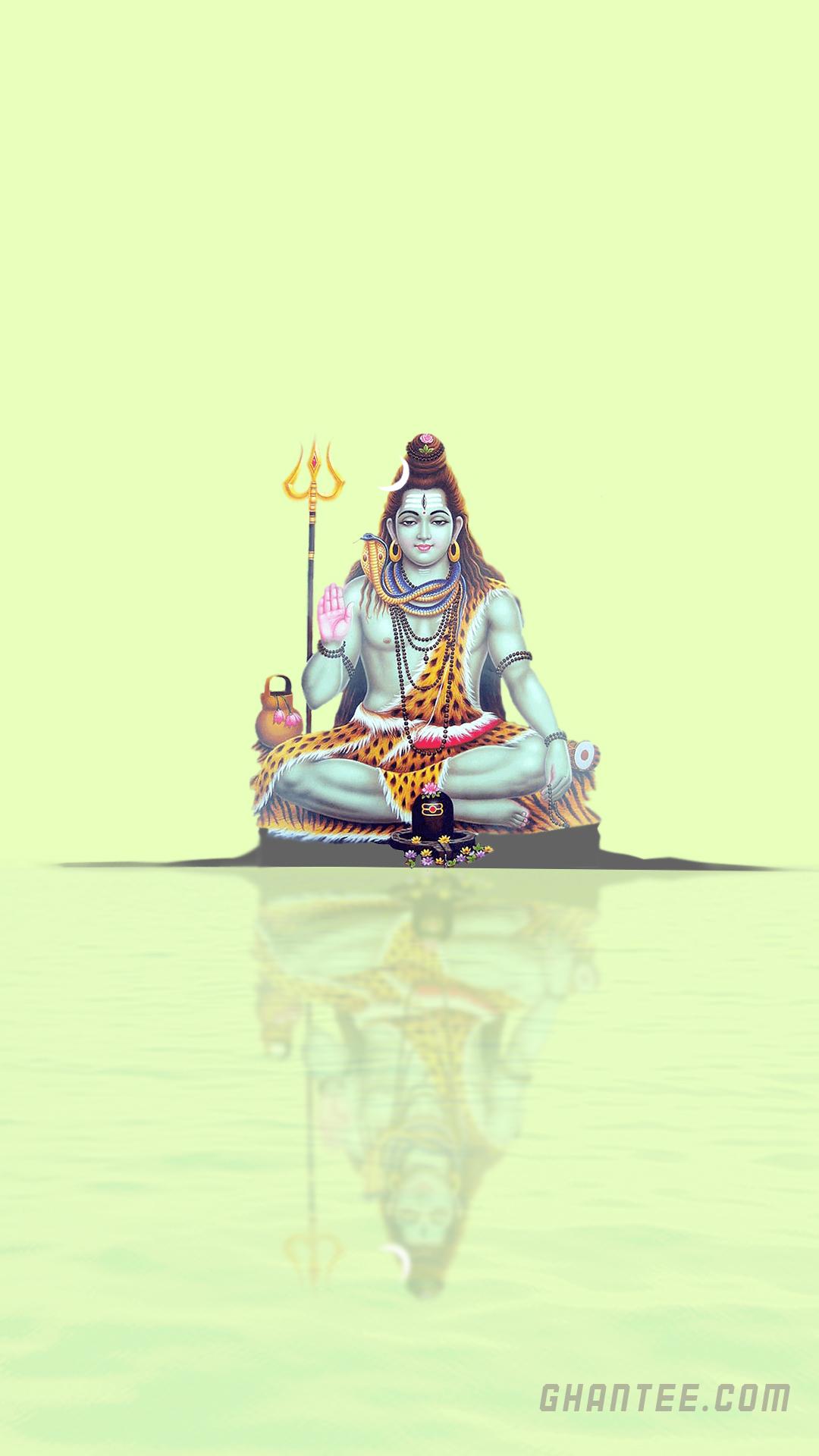 lord shiva fluorescent green phone wallpaper | full HD