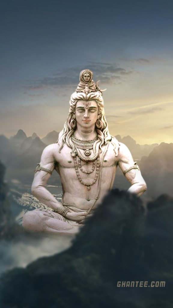 lord shiva giant meditating statue wallpaper for iphone