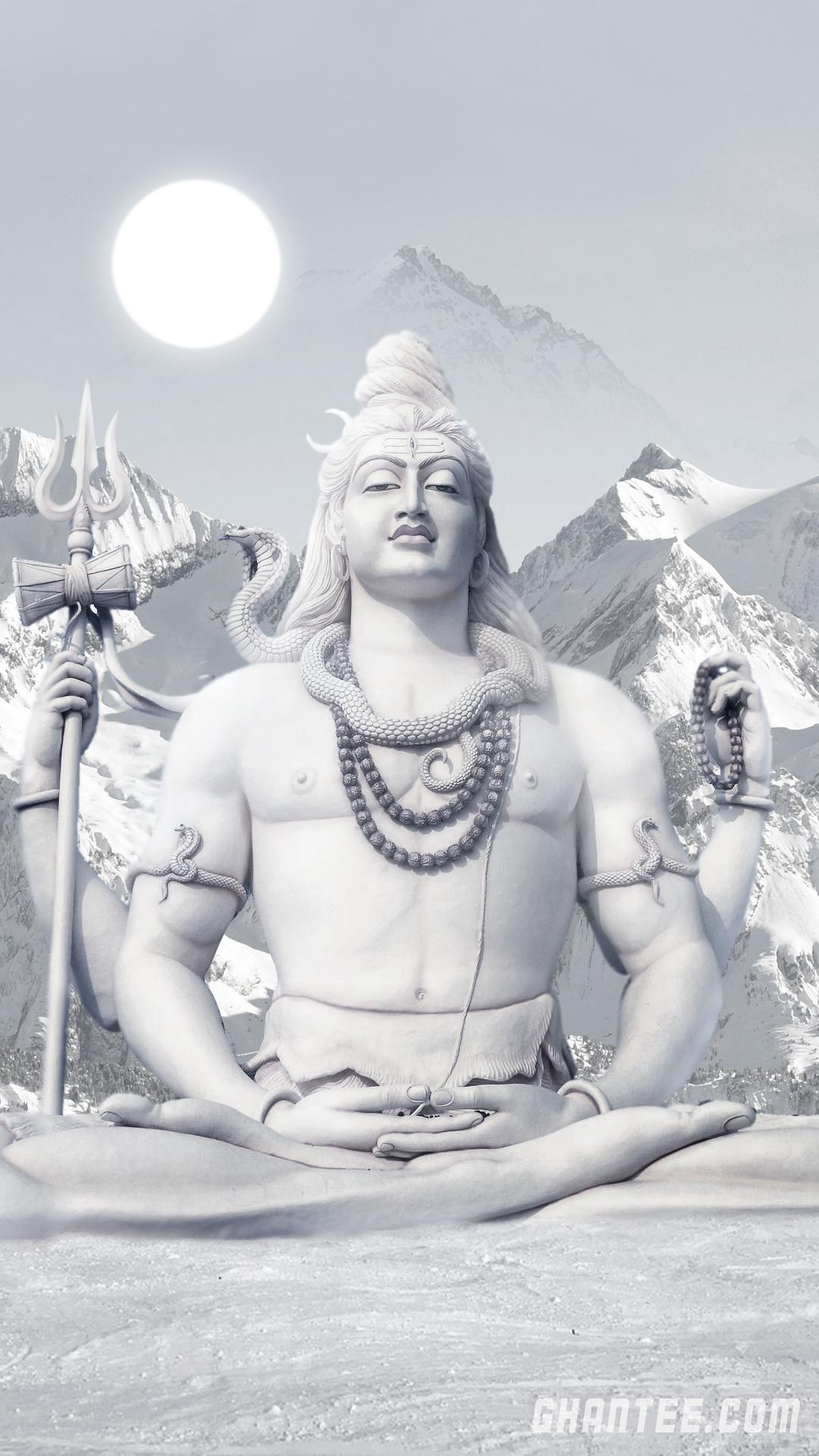 lord shiva snow mountain hd phone wallpaper