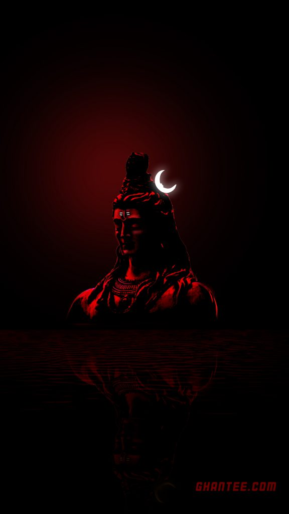 mahadev dark red hd phone wallpaper