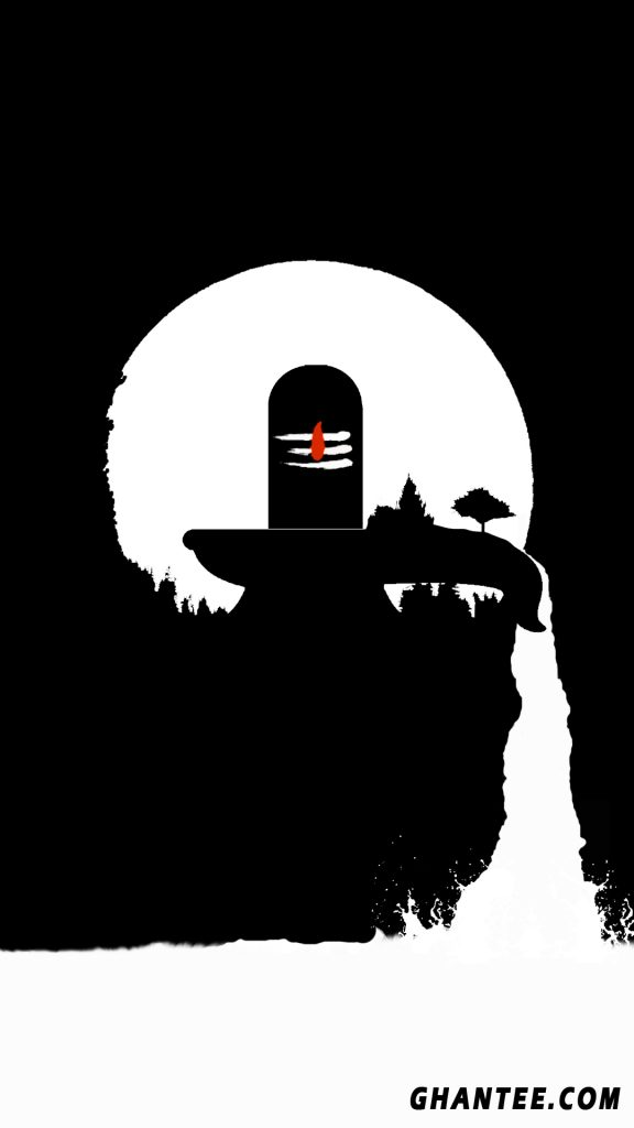 minimalist shivling wallpaper for iphone