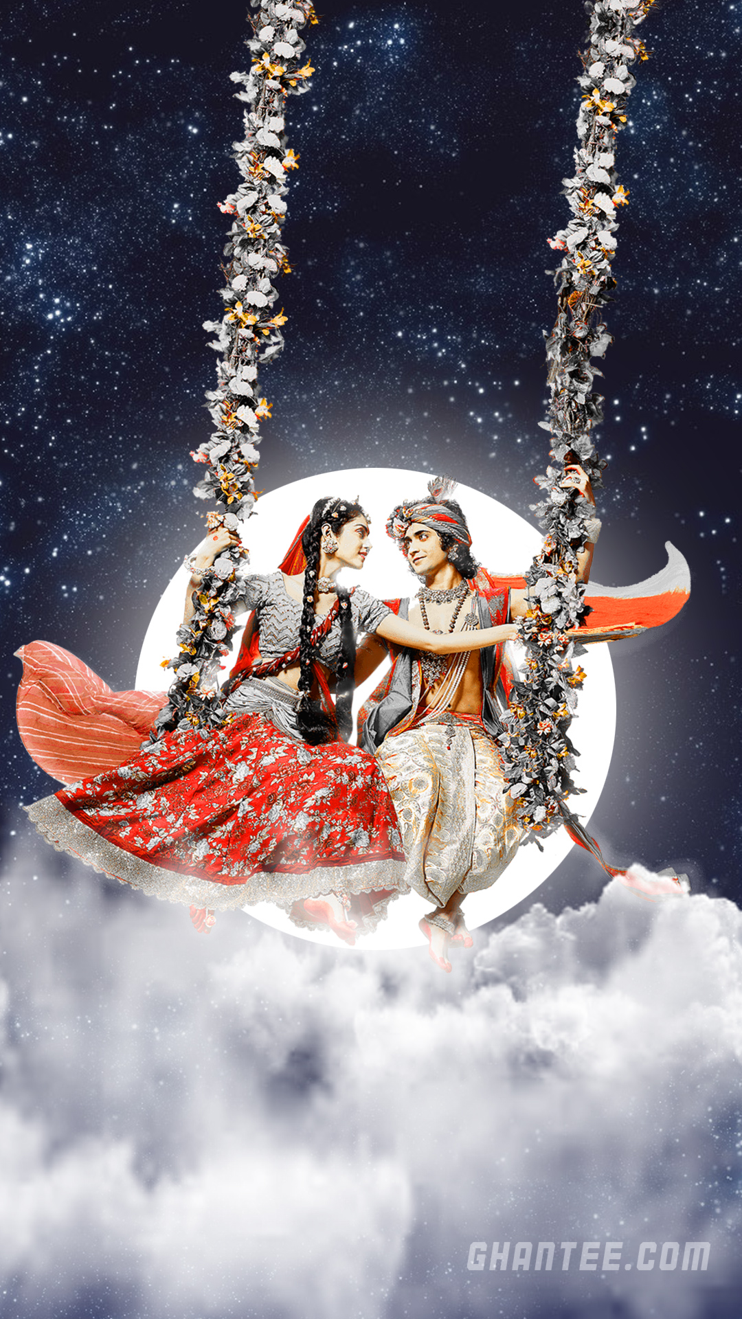 radha krishna beautiful night hd phone wallpaper | radhakrishna