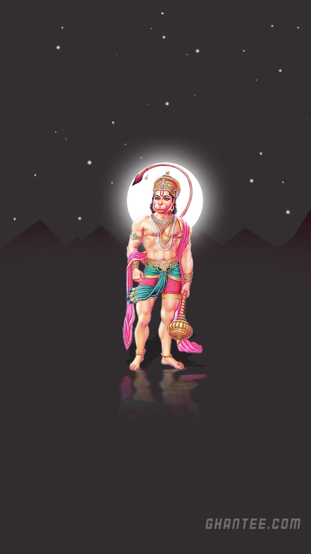 shri hanuman ji minimal mobile wallpaper HD