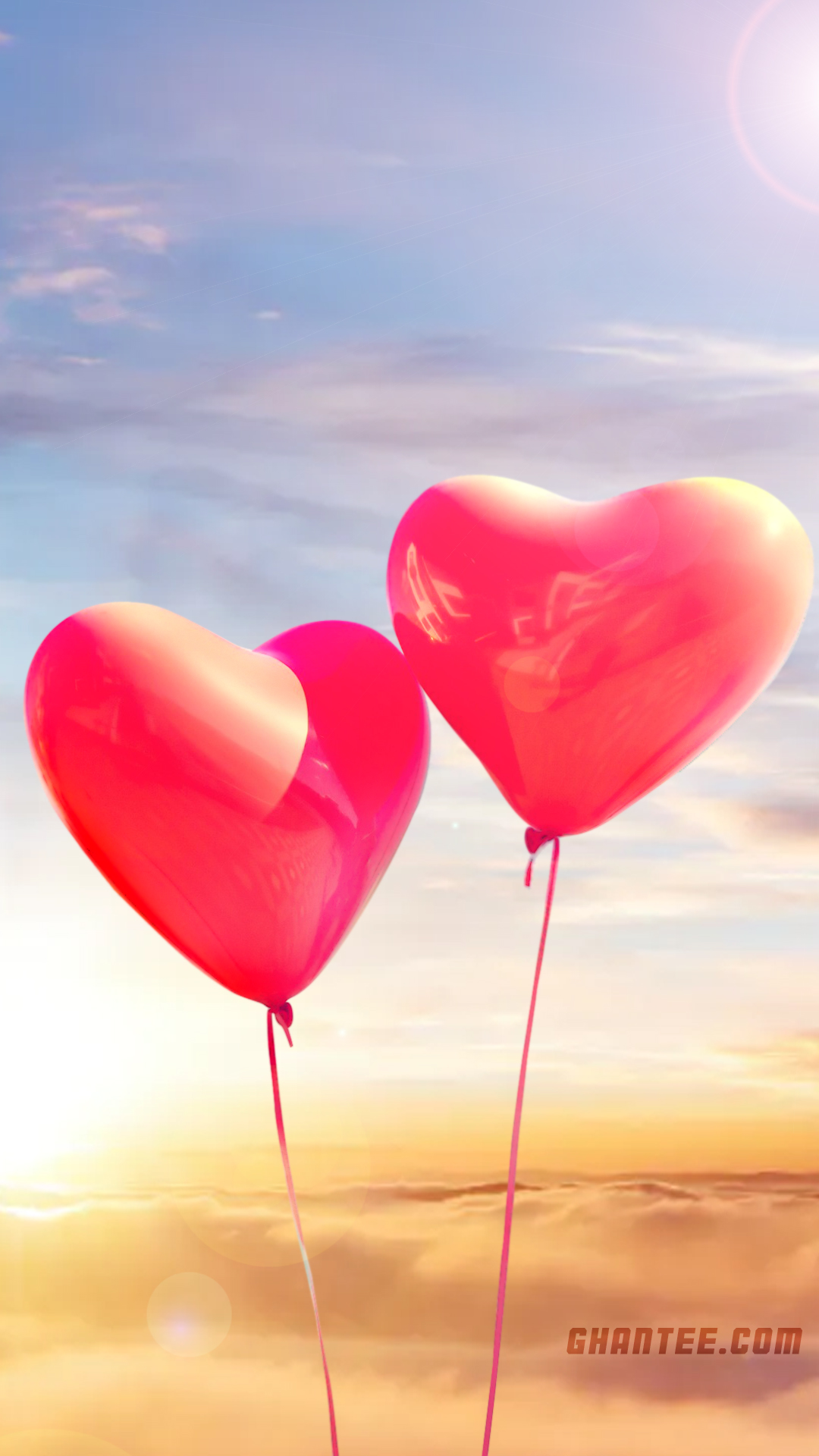 heart balloon love phone wallpaper | 1080×1920