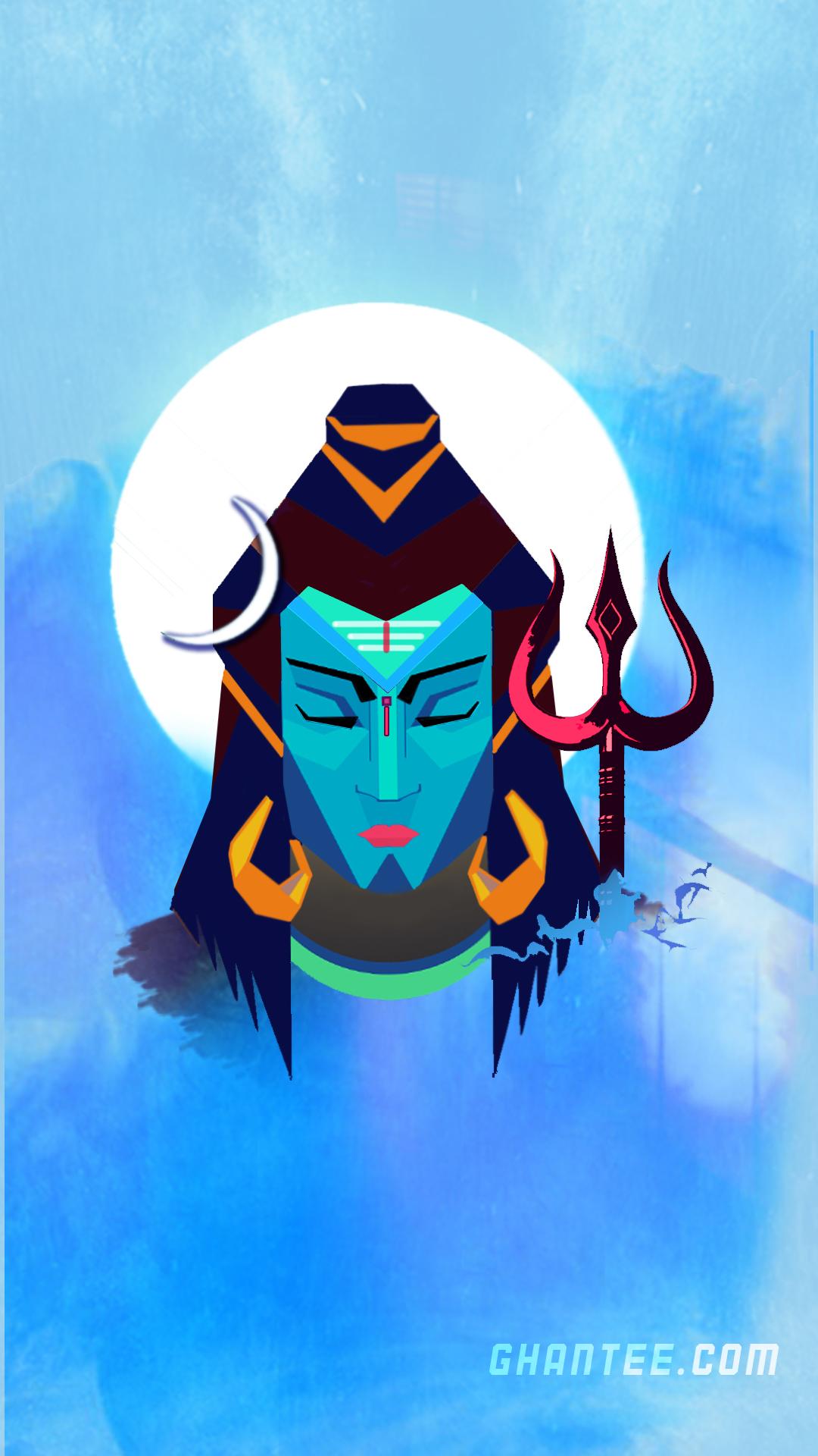 lord shiva abstract art hd mobile wallpaper