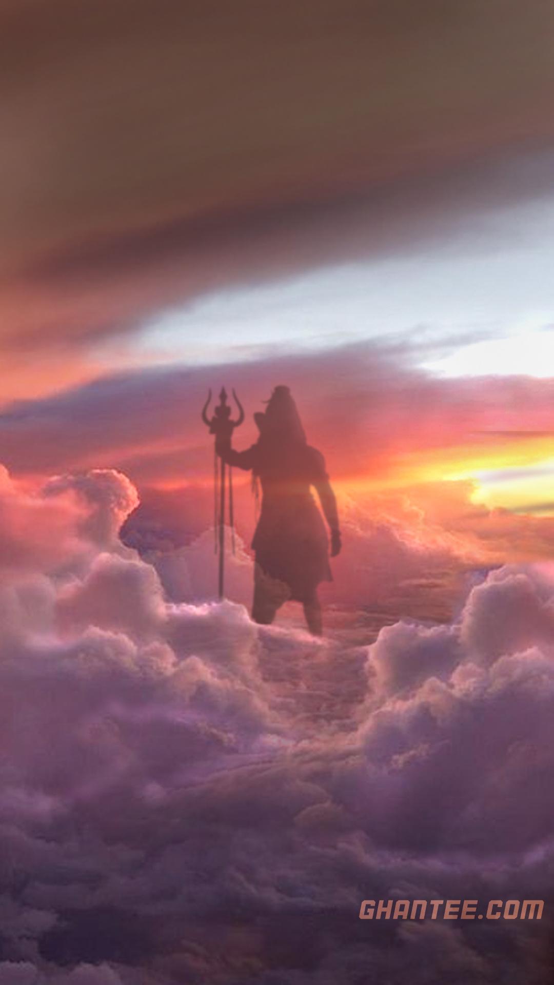 lord shiva in clouds hd lockscreen wallpaper | 1080×1920