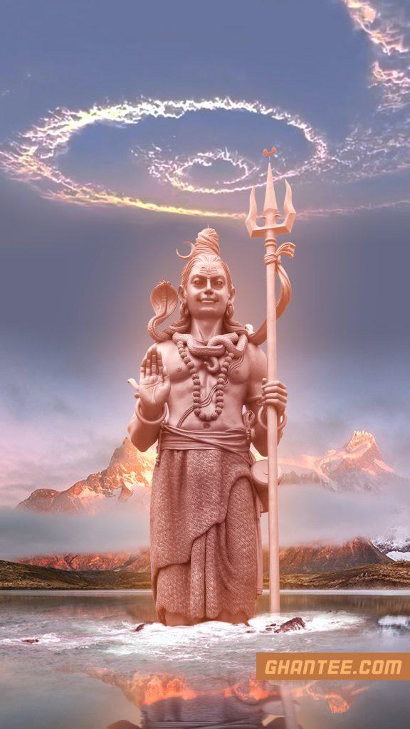mahadev statue hd phone wallpaper