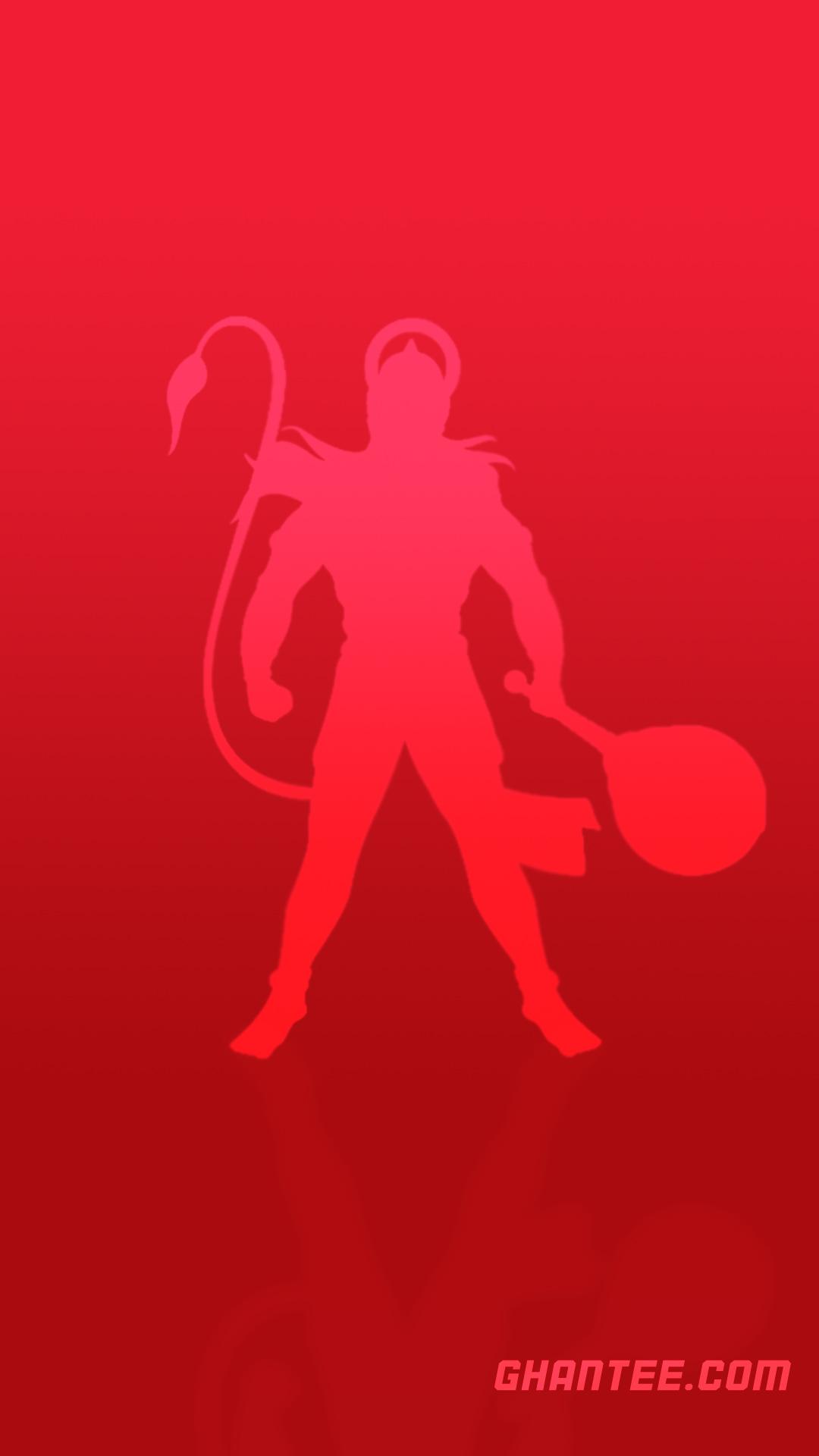 bajrangbali minimal red hd phone wallpaper | simplistic