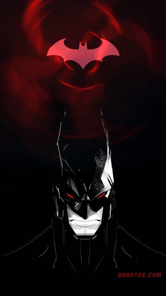 batman red bat logo hd phone wallpaper
