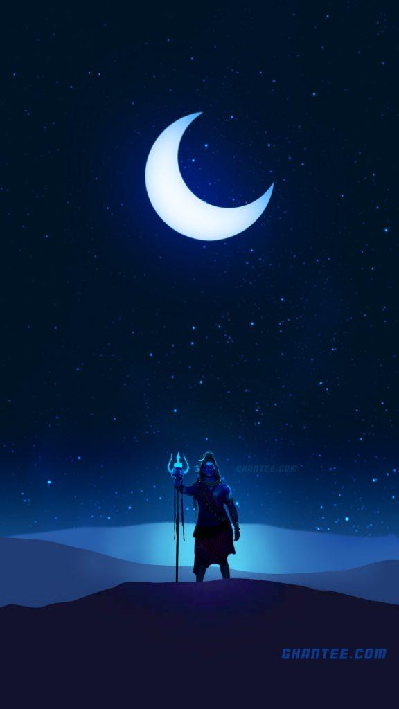 lord shiva mystic night hd phone wallpaper