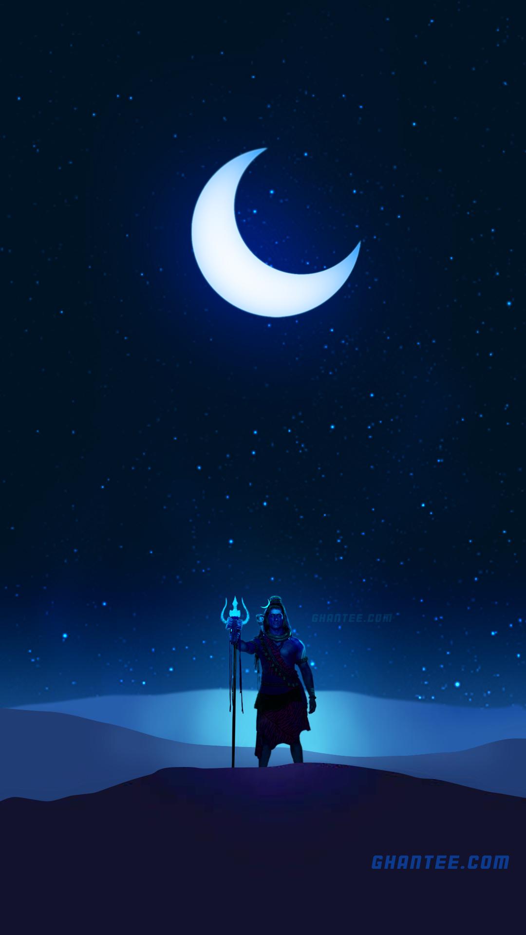 lord shiva mystic night hd phone wallpaper | 20 Dec