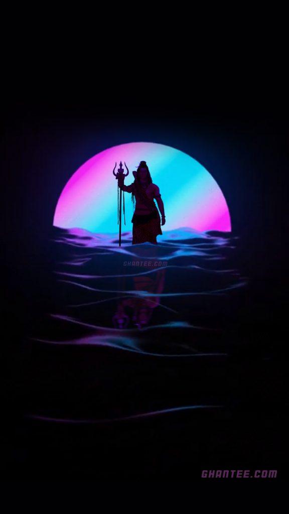 mahadev sunset silhouette hd phone wallpaper
