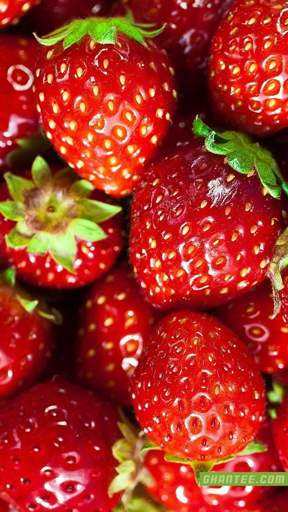 strawberries bright red hd phone wallpaper