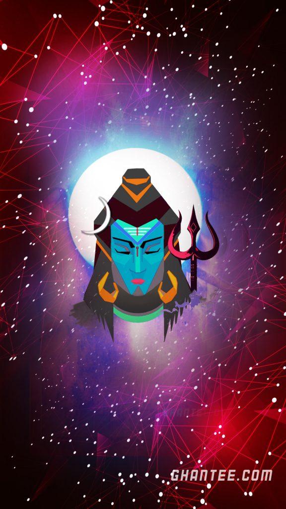 God Shiv in peace wallpaper