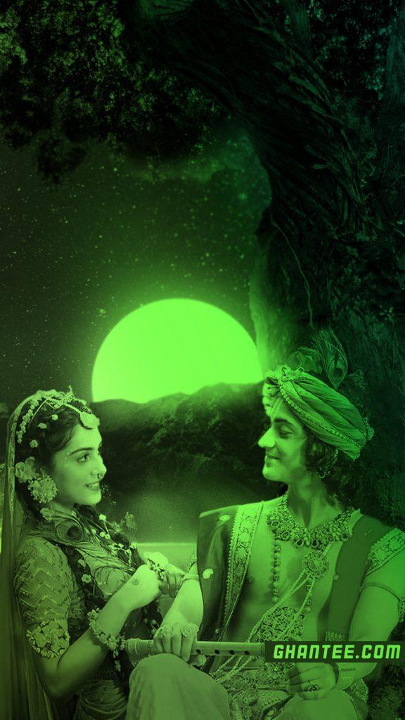 radhakrishna starbharat neon green phone wallpaper HD