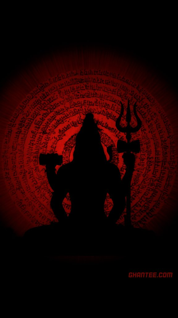 lord shiva chant wallpaper dark red HD