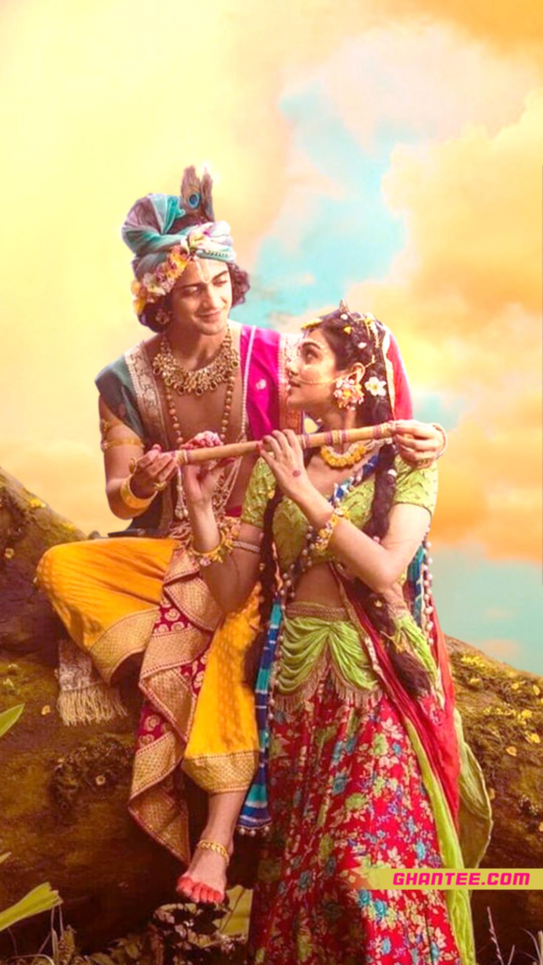 radhakrishna colorful phone wallpaper
