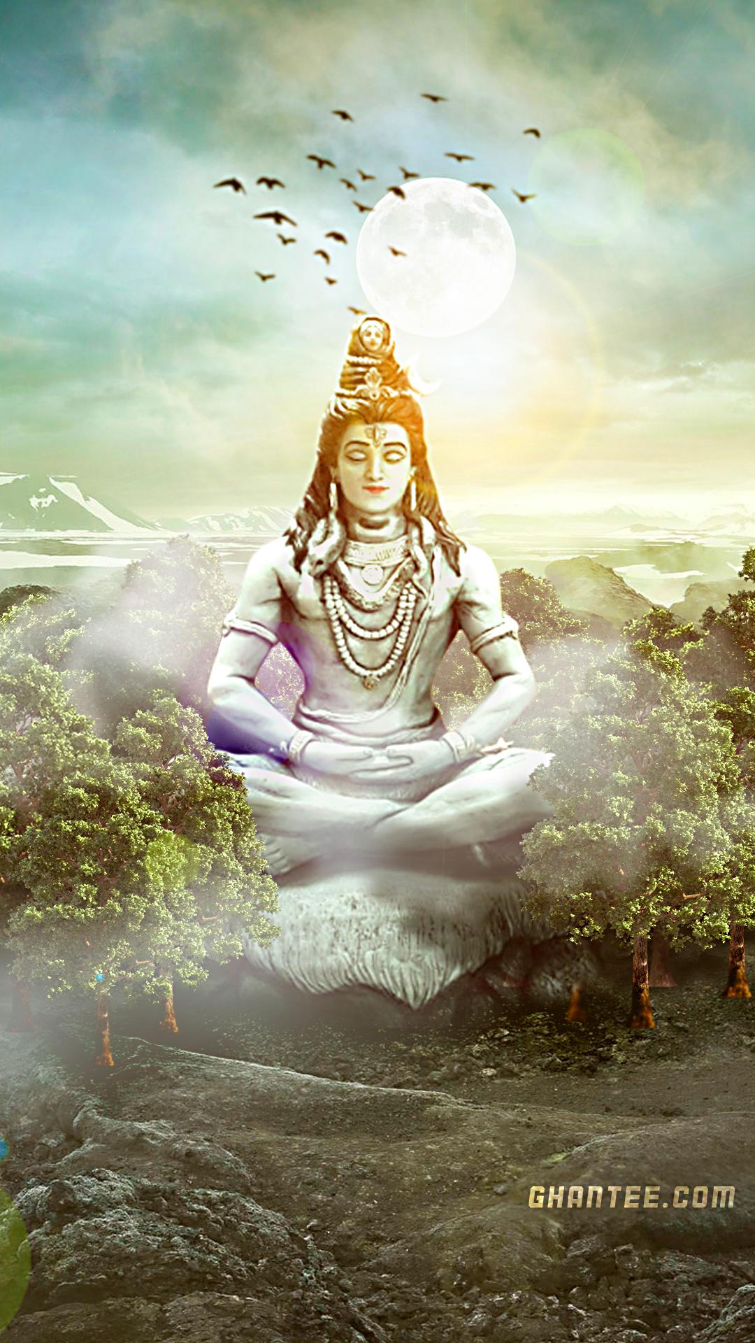 shiv ji huge statue beautiful mobile wallpaper