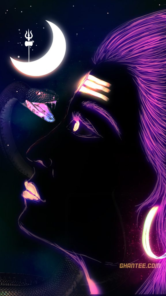 lord shiva paint hd image