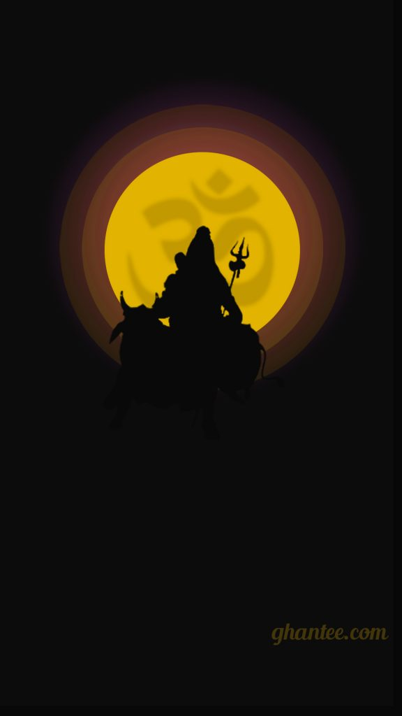 mahadev minimalist phone wallpaper HD